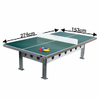 all weather table tennis table 274x153cm